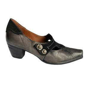 Hispanitas gray and black western heel size 6
